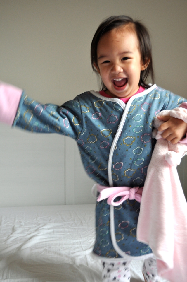 Cloud House Robe | mini bow