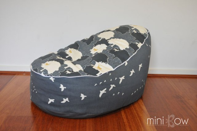 Toddler Bean Bag by StraightGrain | mini bow
