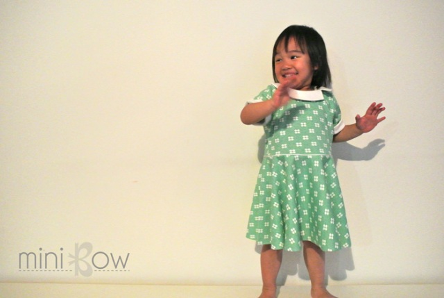 St Patrick's Day Dress | mini bow